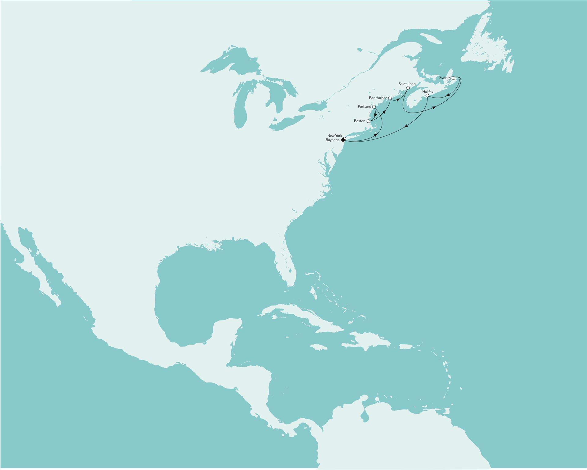 Mein Schiff Kreuzfahrten Nordamerika New York mit Kanada